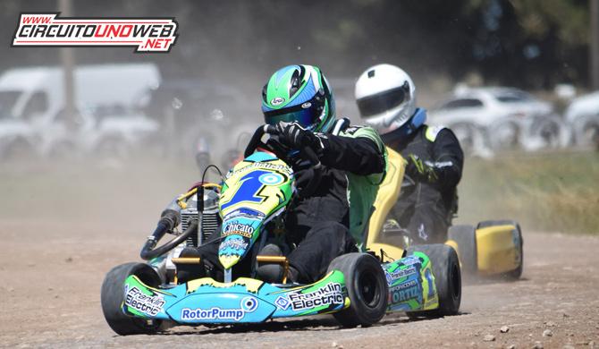 Lucas Ortiz quedó conforme con el rendimiento de su karting