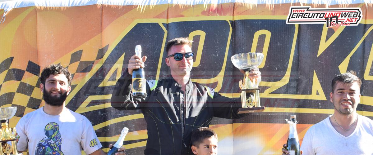 Pedro Andolfatti se subió a lo más alto del podio
