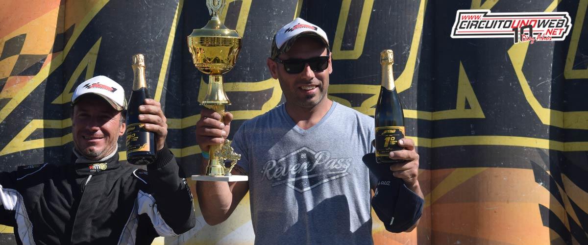 Damián Villanueva festejó en lo más alto del podio