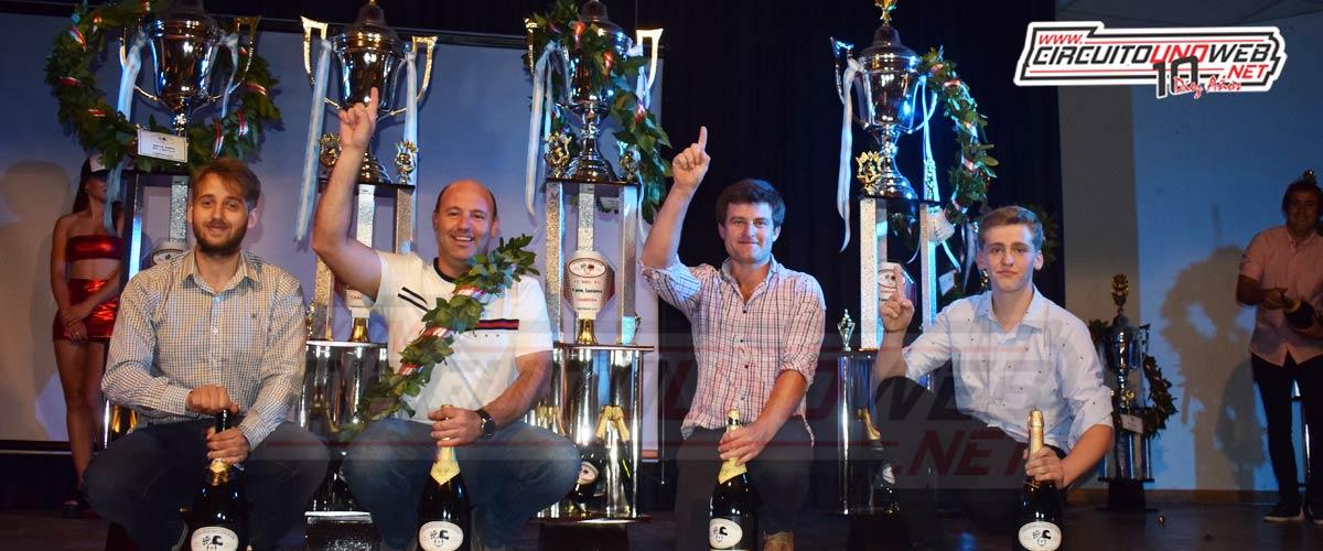 Los cuatro campeones del presente año