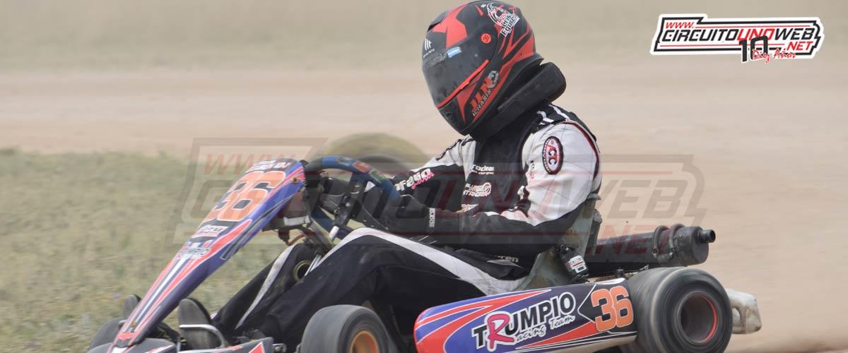 Cristian Eguren retornó al karting