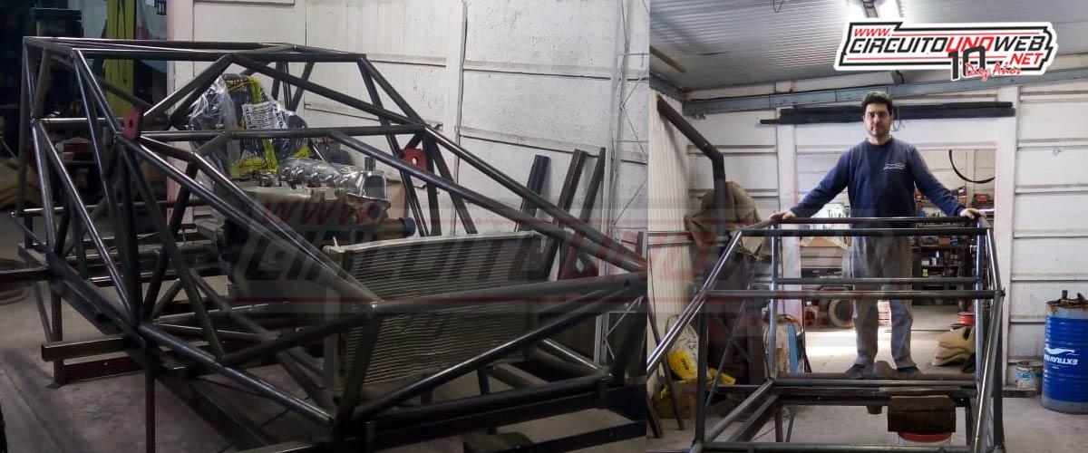 Así está el auto que está construyendo Miguel Arce para Matías Erpelding