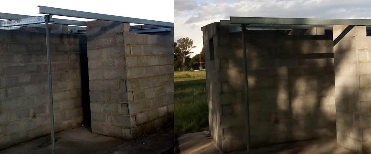 El baño de en frente a la recta fue en el que robaron (fotos Gentileza Sergio Montoya)