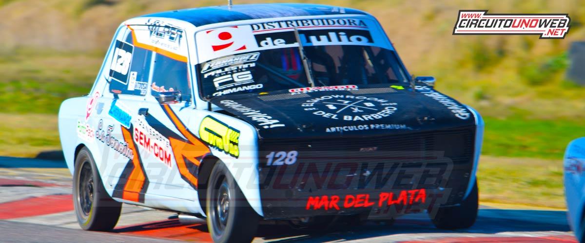 Nahuel Madina daño seriamente el Fiat 128 en el vuelco