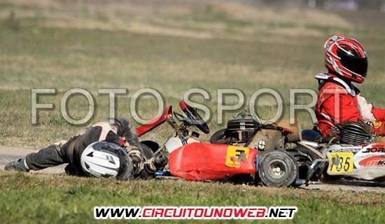 Matías Baracco segundos despues del accidente