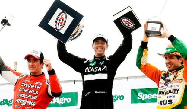 El podio de la tercera fecha del campeonato (foto ACTC)
